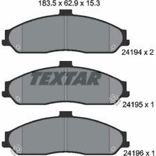 TEXTAR Original Bremsbelagsatz, Scheibenbremse Vorderachse Chevrolet, 2419401