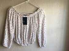 Brandy Melville RARE white Pink Floral Maura Off The Shoulder NEW