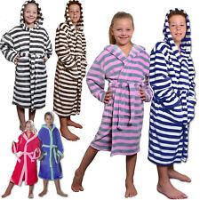 Kinder Bademantel Microfaser Kaputze Gürtel Morgenmantel Jungen Mädchen Sauna
