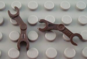 LEGO Lot of 2 Dark Brown Bent Droid Minifigure Body Part Arms