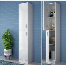 High Gloss Floor Standing Storage Unit Tall Bathroom Cabinet Cupboard 190cm