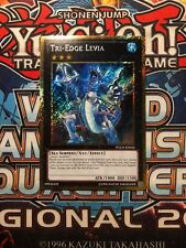 Tri-Edge Levia PGLD-EN026 Gold Secret Rare YuGiOh Card Mint