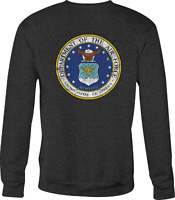Crewneck Sweatshirt Dept Air Force USAF Eagle Military Seal