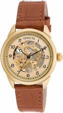 Invicta Women's Specialty Mechanical Hand-wind Skeleton Gold Dial Watch17199