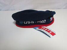 NWT ROOTS official 2002 Team USA Olympics fleece hat adult one sz Salt Lake City