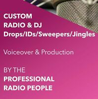CUSTOM RADIO & DJ Drops/IDs/Sweepers/Jingles BY THE PRO COMMERCIAL RADIO PEOPLE