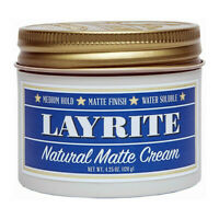 Layrite Natural Matte Cream Water-Based Medium Hold Matte Finish 4.25 oz