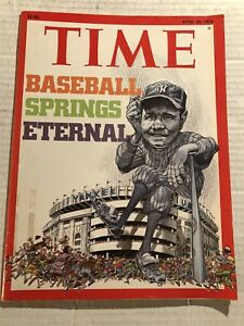 1976 TIME Magazine NEW YORK Yankees BABE RUTH New YANKEE STADIUM No Label SPRING