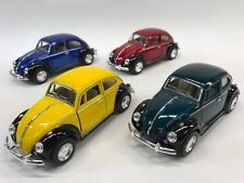 "4 PC Set New 5"" Kinsmart 1967 VW Volkswagen Beetle 2 Tone Diecast Model Toy 1:32"