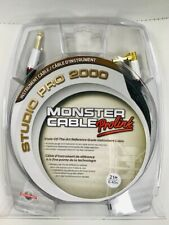 """Monster Studio Pro 2000 Instrument Cable 1/4"""" Angle to Straight 21 FT."""
