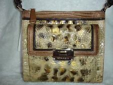 NWT Brahmin Mimosa Cross-body Tortoise Ventana Leather Bag with Built-In Wallet
