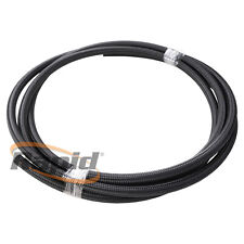 Aeroflow 1m 100 Series Black Braided Stainless Steel Rubber Lined Hose -10AN