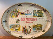 "Vintage 1950's? San Francisco California Souvenir Oval Serving Tray Platter 14"""