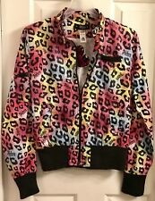 ABBEY DAWN By Avril Lavigne Neon Pop Bomber Jacket Size S. New W/tag!