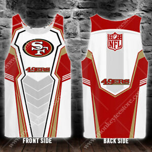 American Football Team Player In San Francisco Men's 3D Tank Top Gift S to 6XL