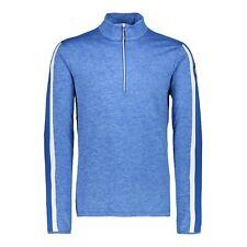 CMP Fleece Pullover One Sweat Blau Breathable Elastic Warming