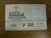 31/03/1992 Ticket: Scottish Cup Semi-Final, Celtic v Rangers [At Hampden Park] [
