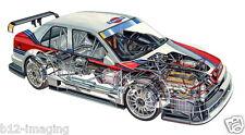 Alfa Romeo 155ti Motorsport Cutaway großes Promo Poster