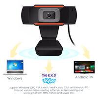 USB HD Webcam Web Cam Camera & Microphone Mic For PC Laptop Skype
