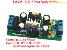 LM7815 + LM7915 ±15V Dual Voltage Regulator Rectifier Bridge Power Supply Module