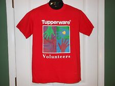 TUPPERWARE VOLUNTEER Collector T-SHIRT Brands Corp INTERNATIONAL LANGUAGES Ex+ M