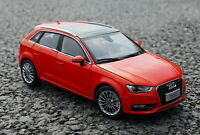 1/18 Scale Audi A3 Sportback Red DieCast Car Model Toy Collection Gift