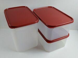 Tupperware Modular Mates Rectangle Set of 3 (Cranberry)
