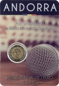 Sondermünzen Andorra: 2 Euro Münze 2016 Rundfunk Sondermünze Gedenkmünze