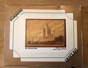 "Art Veneers Co Ltd World of Wood Marquetry Craft Kit No.204 Bavarian Castle 7""x5"