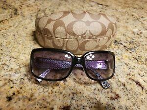COACH DELPHINE Sunglasses Frame S443 Black w/ Lens and Case