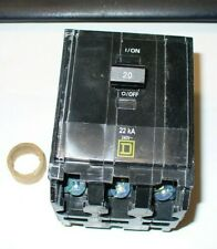 Square D Qob320Vh 3 pole 20 Amp 240 Volt Bolt On Circuit Breaker 22 kA