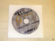 Kirby G7, G7D DVD Owners Manual  for G3 / Ultimate G Diamond in Multi-Language