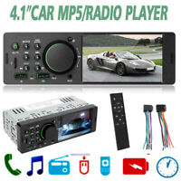 Single 1Din 4.1in WINCE Car Stereo MP5 Player FM Radio USB AUX RCA Bluetooth +RC