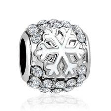 Charms compatibili Pandora Trollbeads - fiocco di neve Snowflake inverno 2019