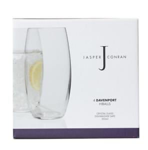 Set of 4 Luxury Jasper Conran Davenport Crystal Glass Hiballs
