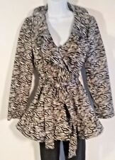 Sandro Black and White Print Jacket Size S - so chic!