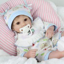 "16""Reborn Newborn Dolls Handmade Vinyl Silicone Boy Doll Christmas Birthday Gift"