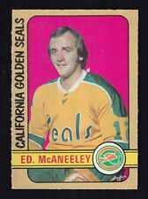 1972-73 ED McANEELEY #242 ROOKIE EX OPC ** Scarce HIGH Number NHL Hockey Card RC