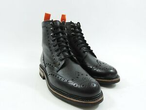 New Church's Cheaney Superdry mens Shoes Boots Black Brogue UK 10 US 11 EU 44 F