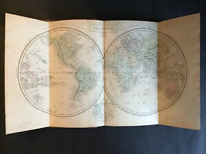1860 Dr SAMUEL BUTLER'S Atlas Modern Geography All 28 +2 MAPS America Europe VGC