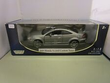 MOTORMAX 1/18 GRAY 2003 HONDA ACCORD CUSTOM TUNER NEW IN BOX *FIRST RELEASE*