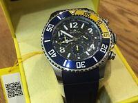 13728 Invicta 48mm Men Pro Diver Quartz Chrongraph Carbon Fiber Dial Strap Watch
