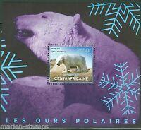 CENTRAL AFRICA 2014 POLAR BEARS  SOUVENIR SHEET MINT NH