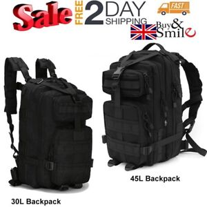 45L MOLLE Assault Pack Backpack Rucksack Military Cadet Army Tactical Combat Bag
