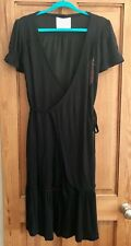 DDP noir Wrap Dress-SIZE L, UK 14, FR 42