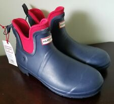 Hunter For Target Rainboots Blue/Red Womens Short Ankle Boots Size 10