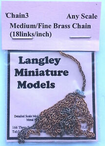 Medium Ring Link Chain 30 inches Long CHAIN3 Scale Langley Models Accessories