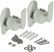 2 x Wandhalter Halterung für Lautsprecher dreh-/neigbar max.5kg weiß Paar Top