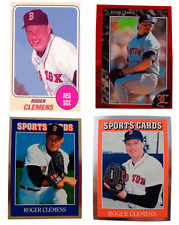 (4) Roger Clemens Odd-Ball Trading Card Lot
