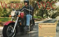 1998 Victory V92C - Vintage 6-Page Motorcycle Road Test Article